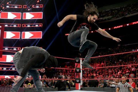 WWE2018RRAW第1330期罗林斯约战安布罗斯