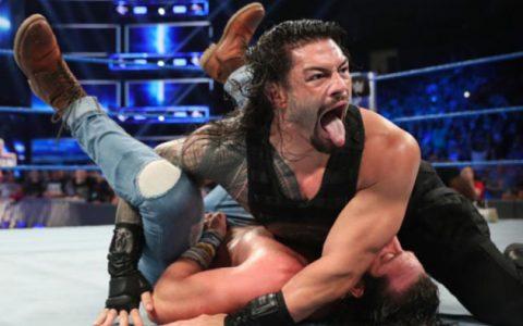 WWE SmackDown第1032期 罗曼雷恩斯携手二柱子对战德鲁和伊利亚斯
