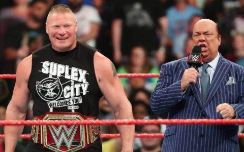 WWE2019 RAW第1364期:布洛克莱斯纳和保罗海曼携腰带出场遭狂嘘