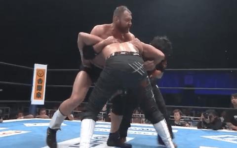 NJPW 2019.08.04 G1 Climax 29 Day 14:白洁 vs. 乔恩莫克斯利