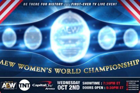 第一条AEW女子冠军将在TNT首播上加冕