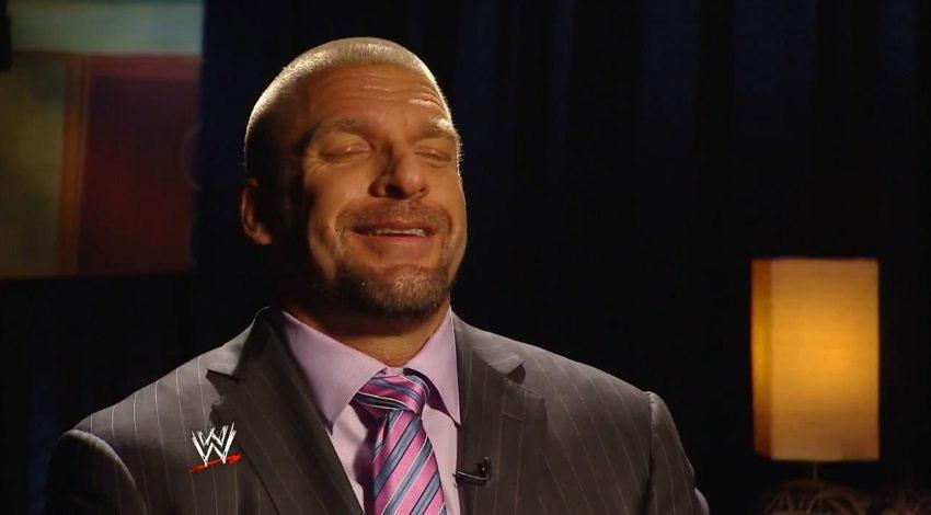 WWE宝冠新闻发布会采访栏目后HHH声称凯恩会和鲨鱼搏命!