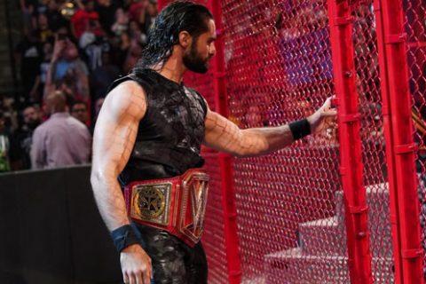 WWE地狱牢笼大赛被评为年度最差PPV,简直浪费罗林斯十一个战争践踏