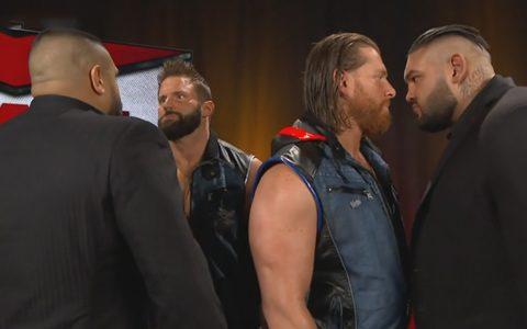 RAW第1382期:今晚双打冠军赛打不成了?AOP现身暴打莱德与霍金斯