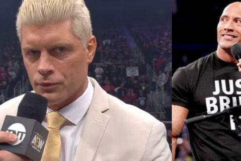 WWE巨石强森再次称赞AEW科迪是现摔角界的潮流人物