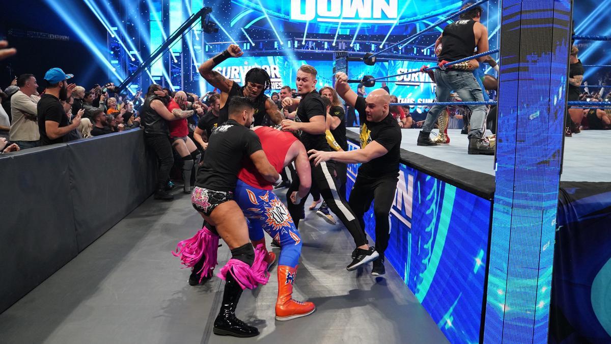 红黄品牌入侵蓝牌精彩抓拍《SmackDown第1057期》