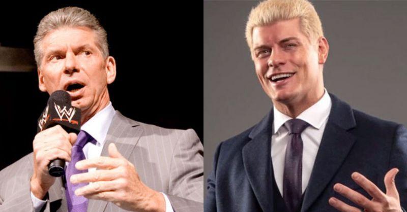 AEW科迪罗兹和WWE主席文斯麦克曼