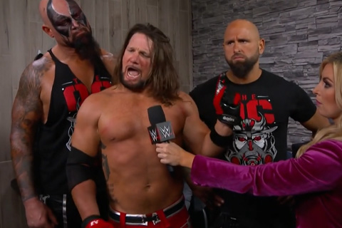 RAW第1383:队友CBA带不动?AJ斯泰尔斯锁定毒蛇