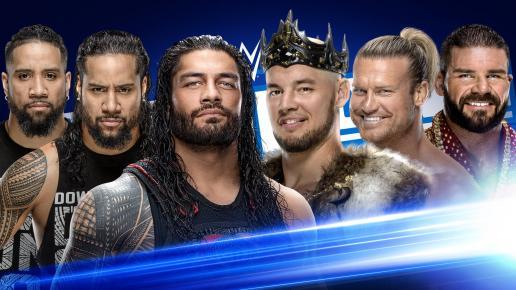 罗曼雷恩斯 巴伦科尔宾 道夫齐格勒 乌索兄弟WWE Smackdown