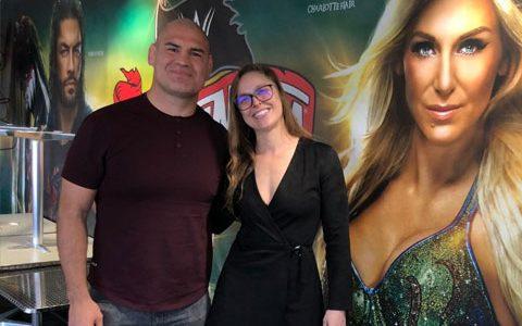 隆达罗西和UFC凯恩出现在WWE总部,为WWE摔角狂热准备?
