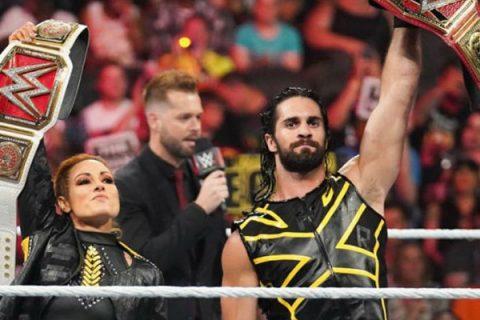 贝基林奇和赛斯罗林斯原定于WWE摔角狂热大赛后结婚,受疫情影响不得推迟
