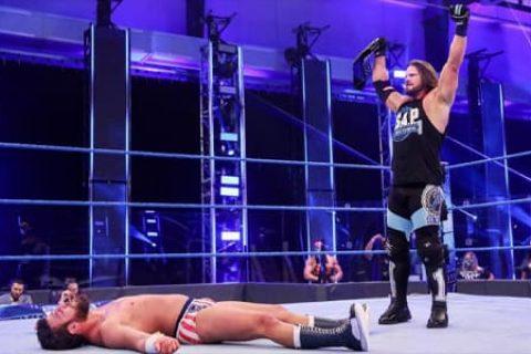 WWE巨星-AJ斯泰尔斯拿着二线的冠军,却操着一线剧情的心!