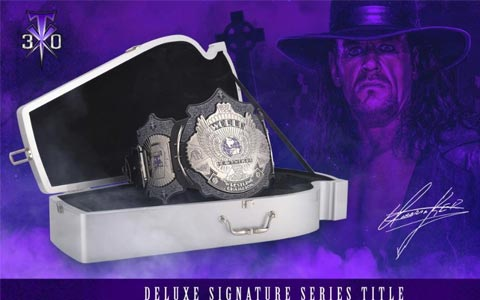 致敬传奇!WWE推出限量版腰带,纪念送葬者30年职业生涯!