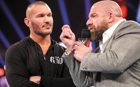 WWE驸马爷回归全程划水遭口诛笔伐,公司有计划让兰迪再次挑战Triple H弥补遗憾