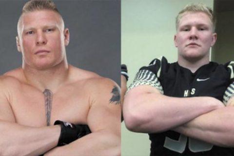 一名橄榄球运动员突然爆火原因是神似猛兽布洛克,网友劝其火线加盟WWE