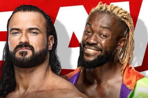 WWE RAW第1462期:德鲁麦金泰尔和科菲金士顿对决,争夺WWE冠军挑战资格