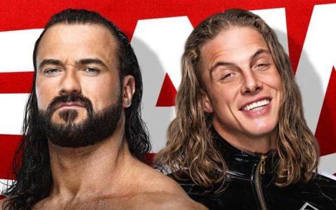 WWE RAW第1465期:马特里德尔vs.德鲁麦金泰尔争夺合约阶梯资格赛
