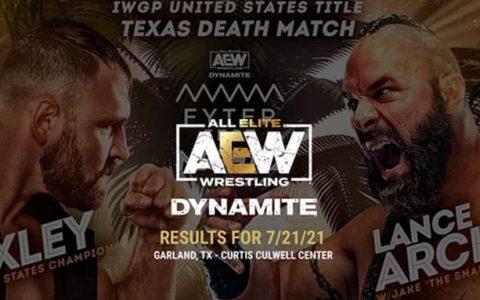 AEW Dynamite 95期:乔恩莫斯利出战德州死亡赛 IWGP冠军腰带易手