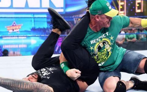 WWE SmackDown第1148期:罗曼雷恩斯表示要和约翰塞纳在夏日狂潮大赛上打一场WWE环球冠军头衔赛